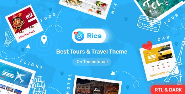 Rica- Bootstrap 4 & 5 Travel , Tours , Hotels & Restaurants Site Template