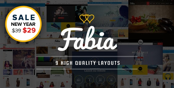 Fabia - Multipurpose Responsive WooCommerce WordPress Theme - WooCommerce eCommerce