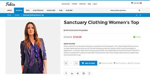 Fabia - Multipurpose Responsive WooCommerce WordPress Theme