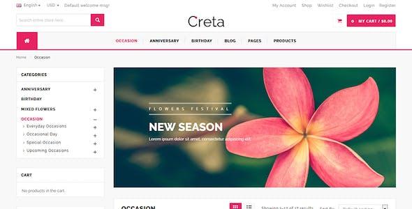 Creta - Flower Shop WooCommerce WordPress Theme