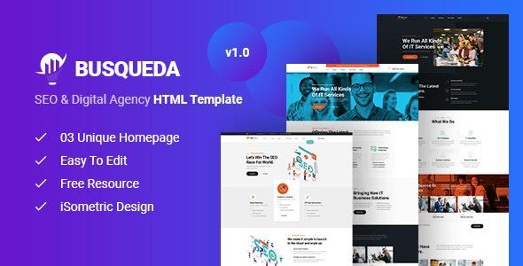 Busqueda - SEO & Digital Agency HTML Template - Business Corporate