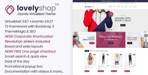LovelyShop - Responsive Multipurpose VirtueMart Theme