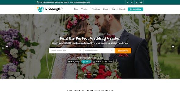 WeddingDir - Wedding Directory PSD Template