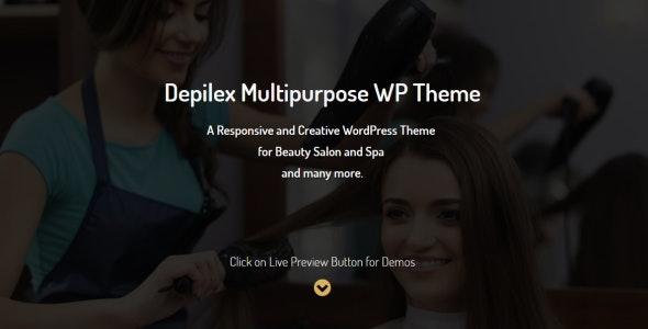 Depilex Salon - Parlour - Spa - Gym - Multipurpose WP Theme - Health & Beauty Retail