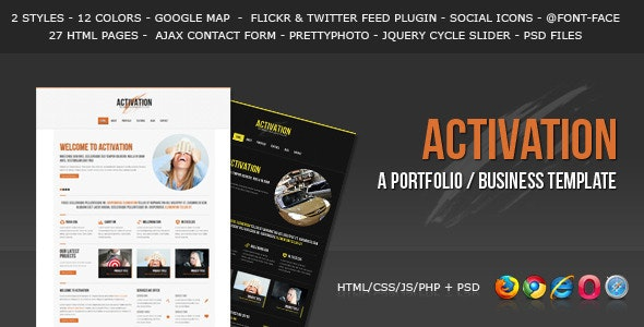 Activation - a Business / Portfolio Template - Corporate Site Templates