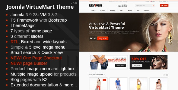 Reviver - Responsive Multipurpose VirtueMart Theme - VirtueMart Joomla