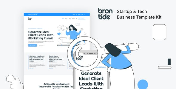 Brontide – IT Solutions & Technology Startup Elementor Template Kit