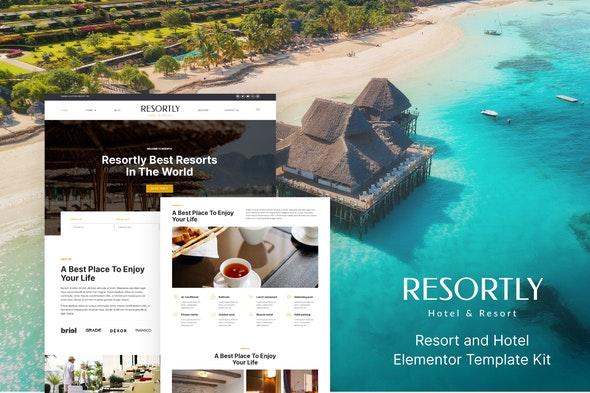 Resortly - Resort & Hotel Elementor Template Kit - Travel & Accomodation Elementor