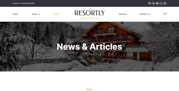 Resortly - Resort & Hotel Elementor Template Kit