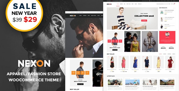 Nexon - Apparel Store Multipurpose Responsive WooCommerce WordPress Theme - WooCommerce eCommerce