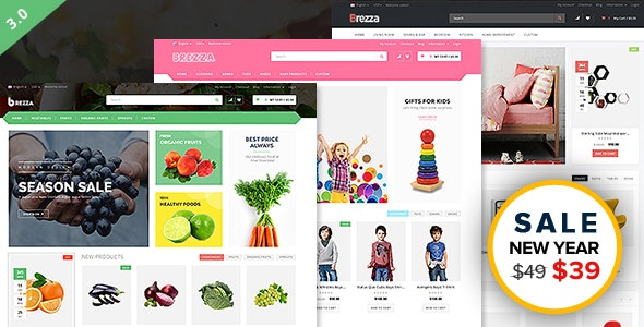 Brezza - Fruit Store Multipurpose WooCommerce WordPress Theme - WooCommerce eCommerce