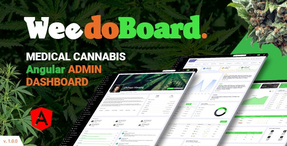 Weedoboard | Cannabis Dashboard Angular Template - Admin Templates Site Templates