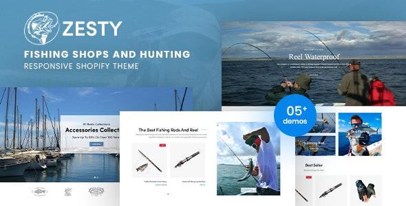 ZestyFish - Fishing Shop Responsive Shopify Theme - Shopify eCommerce