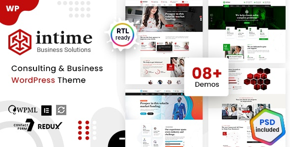 Intime - Business Consulting WordPress - Business Corporate