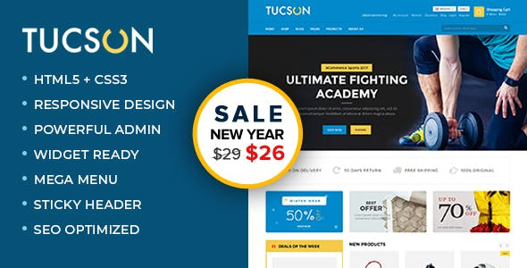 Tucson - Sports, Fitness and Gym Responsive WooCommerce WordPress Theme