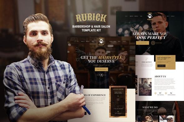 Rubick - Barbershop & Hair Salon Elementor Template Kit - Fashion & Beauty Elementor