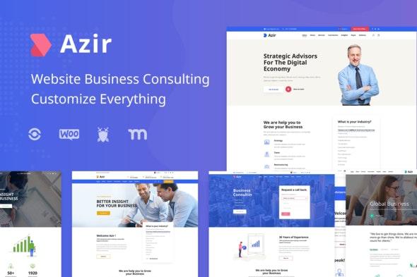 Azir   Finance Consulting Elementor Template Kit - Finance & Law Elementor