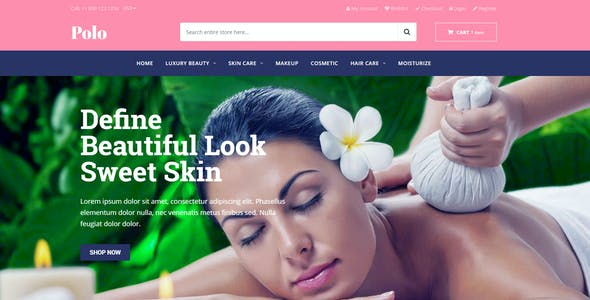 Polo - Drag & Drop Sectioned Beauty Store Shopify Theme