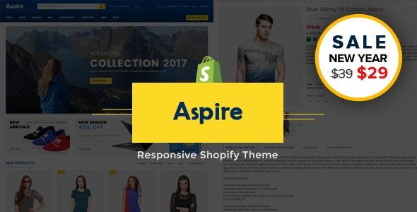 Aspire - Multipurpose Responsive Shopify Theme & Template - Fashion Shopify