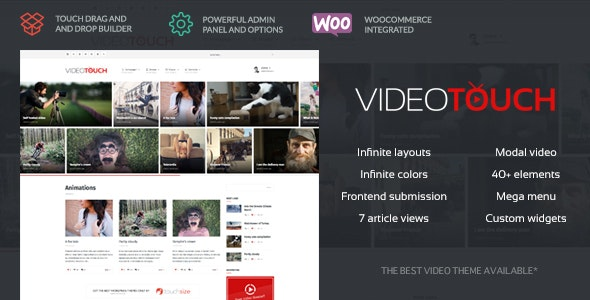 VideoTouch - Video WordPress Theme - Entertainment WordPress