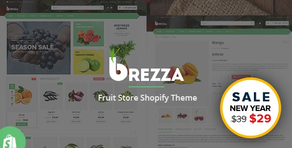 Brezza - Fruits & Food Store Shopify Theme & Template - Shopping Shopify