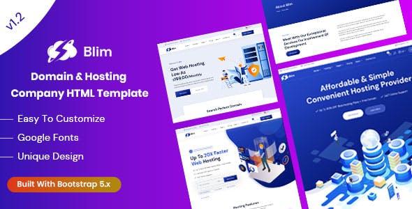 Blim - Domain & Hosting Company HTML Template