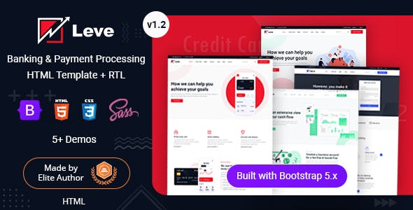 Leve - Online Banking & Payment Processing HTML Template