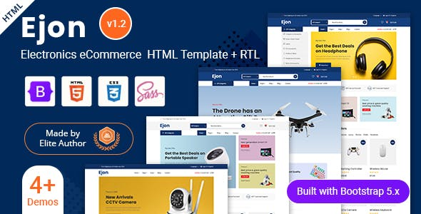 Ejon - Electronics eCommerce HTML Template