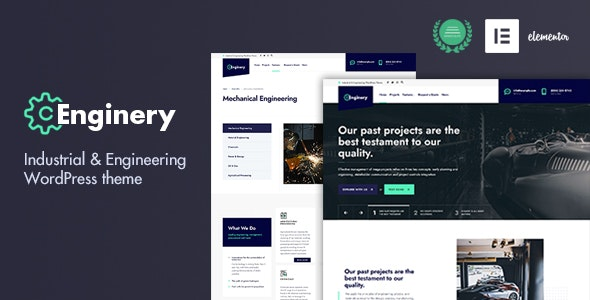 Enginery - Industrial & Engineering WP theme - Business Corporate
