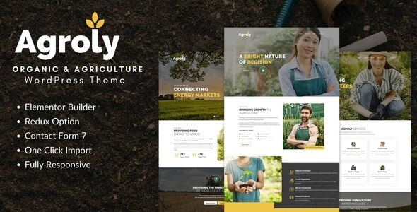 Agroly - Organic & Agriculture Food WordPress Theme - Food Retail
