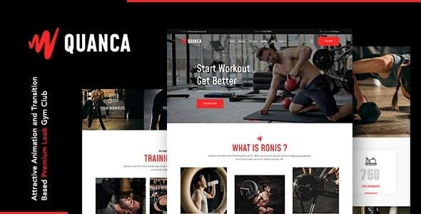Quanca | Premium Gym Club Joomla Template