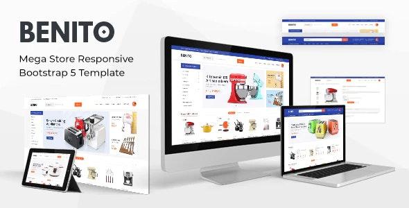 Benito Mega Store Responsive Bootstrap 5 Template
