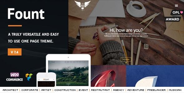 Fount - One & Multipage Hybrid WordPress Theme - Miscellaneous WordPress