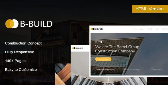 B-Build - Construction HTML Template