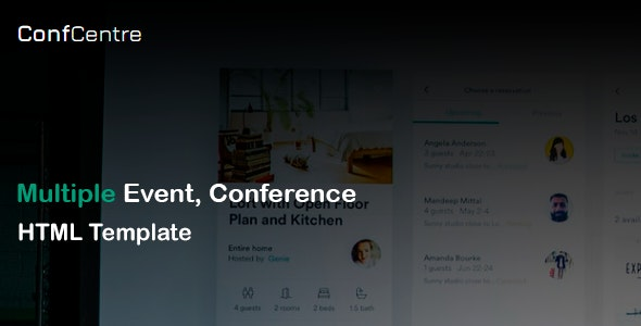 ConfCentre - Business & Events Landing Page HTML Template - Events Entertainment