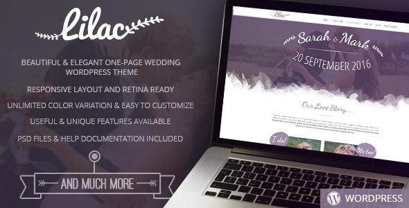 Lilac - One-page Wedding WordPress Theme - Wedding WordPress