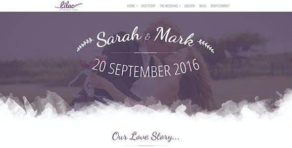 Lilac - One-page Wedding WordPress Theme
