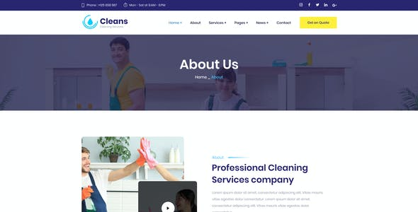 Cleans - Cleaning Figma Template