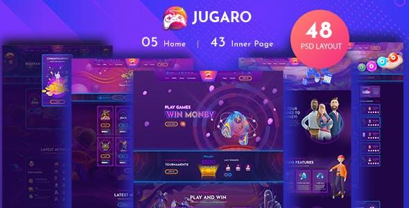 Jugaro - eSports and Gaming PSD Templates