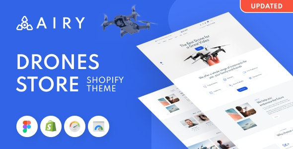 Airy - Drones Store Shopify Theme - Technology Shopify