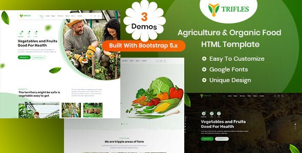 Trifles - Agriculture & Organic Food HTML Template