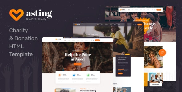 Asting - Charity & Donation HTML Template - Charity Nonprofit