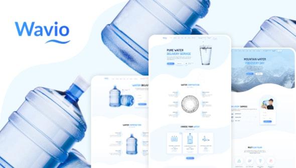 Wavio - Bottled Water Delivery WordPress Theme - Food Retail
