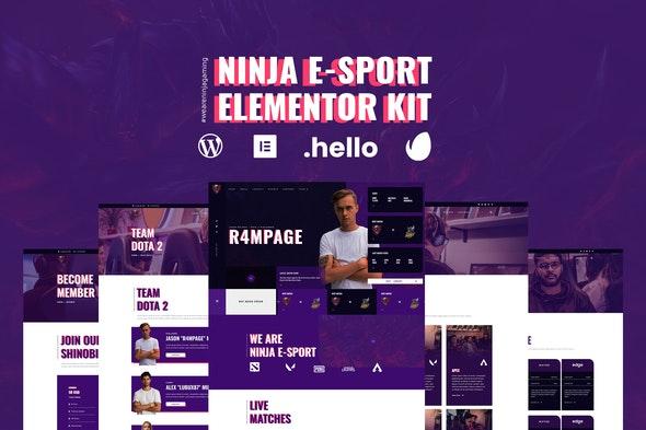 Ninja - Esports & Gaming Elementor Template Kit - Sport & Fitness Elementor