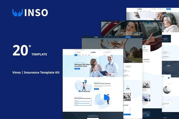 Vinso   Insurance Elementor Template Kit - Business & Services Elementor