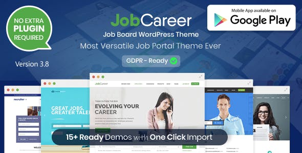 JobCareer | Job Board Responsive WordPress Theme