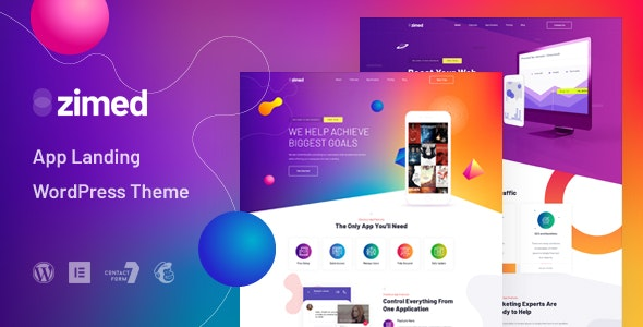 Zimed - App Landing WordPress Theme - Technology WordPress