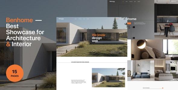 Benhome - Architecture & Interior Figma Template - Business Corporate