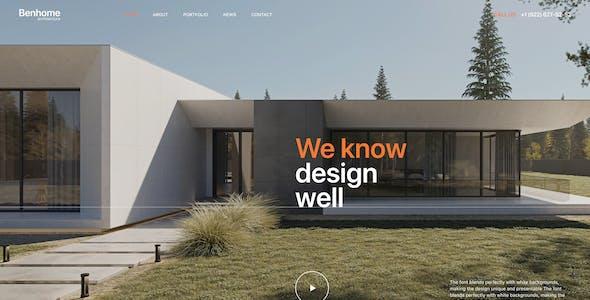 Benhome - Architecture & Interior Figma Template