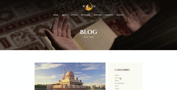 Shaha | Islamic Centre & Mosque WordPress Theme + RTL + Elementor